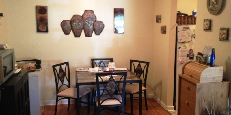 View of the dining room in one of our newly renovated apartments in Northeast Connecticut